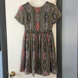 Asos petite dress - paisley babydoll w/ open back